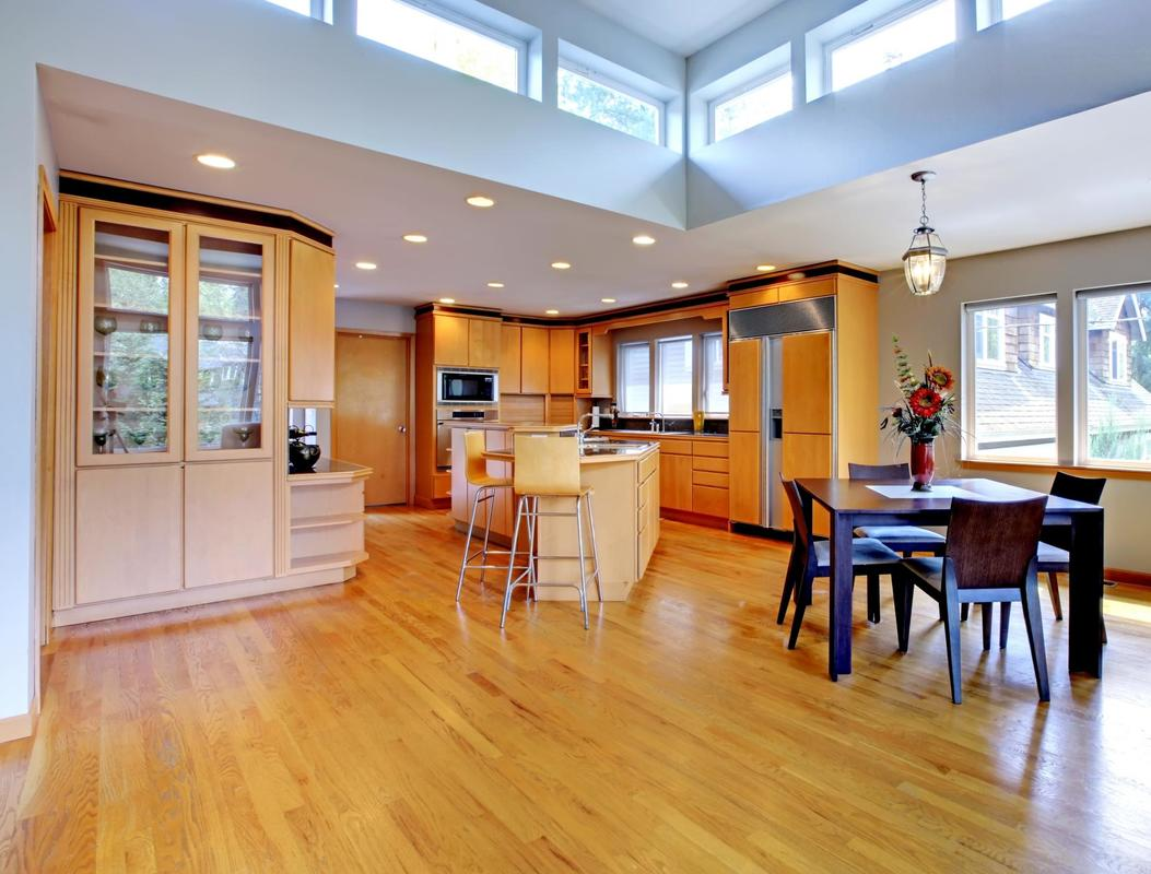 This is a picture of a hardwood refinishing flooring.